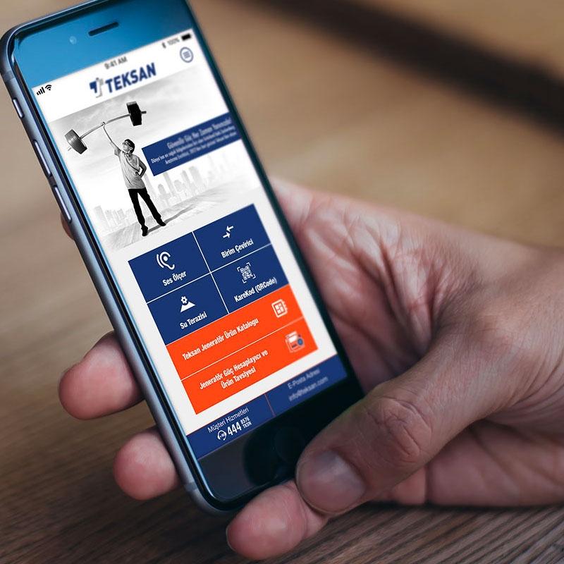 Teksan Jeneratör Mobil Uygulama Geliştirme